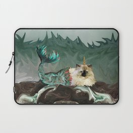 Behold the Mythical Merkitticorn - Mermaid Kitty Cat Unicorn Laptop Sleeve