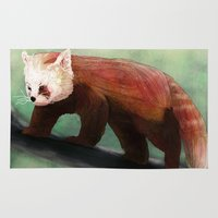 red panda Area & Throw Rugs featuring Red Panda by Ben Geiger
