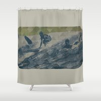 surf Shower Curtains featuring Surf by Last Call