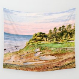 Whistling Straits Golf Course 17th hole Wall Tapestry