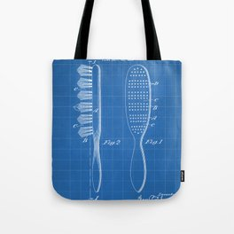 Hair Brush Patent - Salon Art - Blueprint Tote Bag