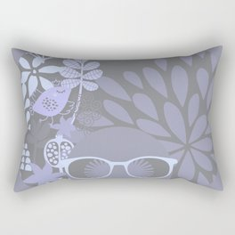 Afro Diva Sophisticated Pale Blue Gray Rectangular Pillow