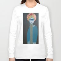 halo Long Sleeve T-shirts featuring Red Halo by Hinterland Girl
