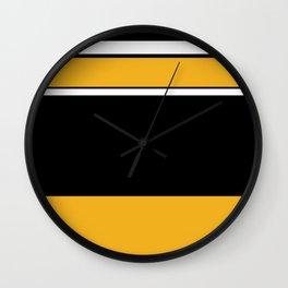 Abstractedly Daffy Wall Clock
