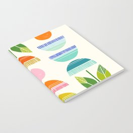 Sugar Blooms - Abstract Retro Inspired Design Notebook