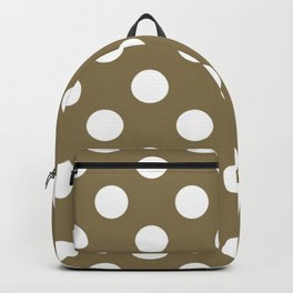 Gold Fusion - grey - White Polka Dots - Pois Pattern Backpack