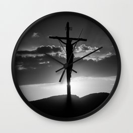 Christ of the Cross. Wall Clock