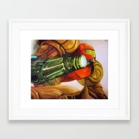 metroid Framed Art Prints featuring Metroid by JeyJey Artworks