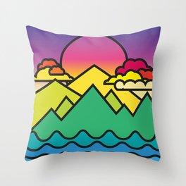 Warmer Times Throw Pillow