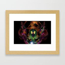 Art Deco Birds of Paradise Framed Art Print