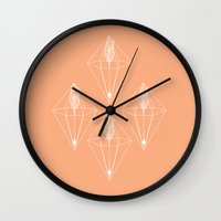 arrows Wall Clocks featuring arrows by Anoukisch