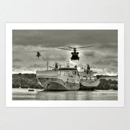 Choppers & Ships  Art Print