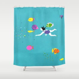 Let's Swim Together - Fish Shower Curtain