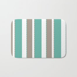 Fancy Striped Bath Mat