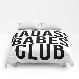 badass babes club Comforters