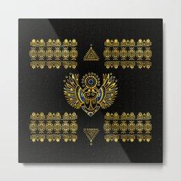 Egyptian Scarab Beetle Metal Print