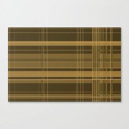 Brown Plaid Canvas Print