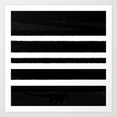 Black & White Stripe Art Print