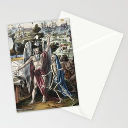 Raphael's Prophetic Almanack: a mob in the City of London (1844) Stationery Cards