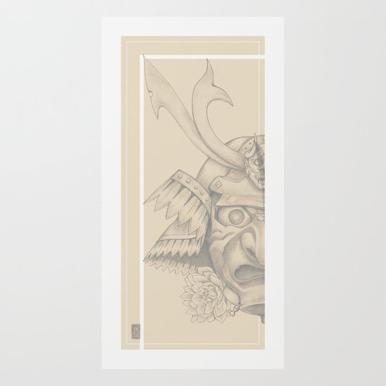 Samurai Mask Version B Art Print