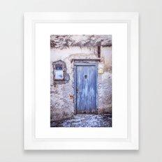 Old Blue Italian Door Framed Art Print