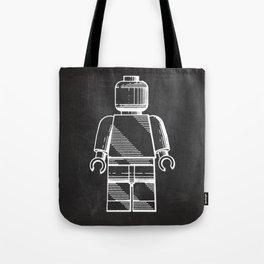 Lego Man original Lego patent Tote Bag
