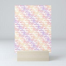 Good Vibes Only - Rainbow Mini Art Print