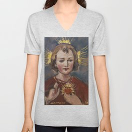 Little Jesus of my life Unisex V-Neck