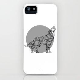 Wolf - Geometric Animals iPhone Case