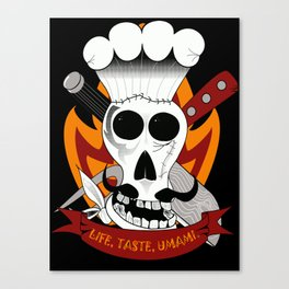 Chef For Life (Code Of Arms) Canvas Print