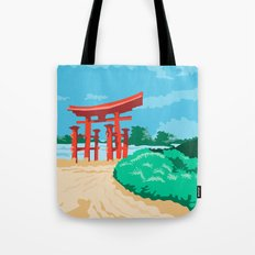 Torii Japanese Gate WPA Tote Bag
