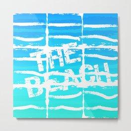 The Beach Aqua Metal Print