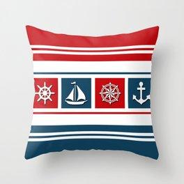 Nautical symbols Throw Pillow