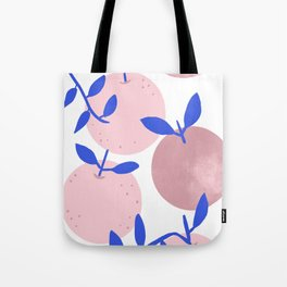 Modern clementines in blush Tote Bag