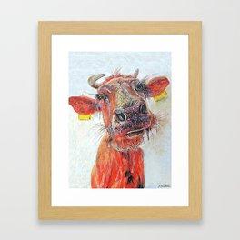 skinny ribs, highland cow Framed Art Print