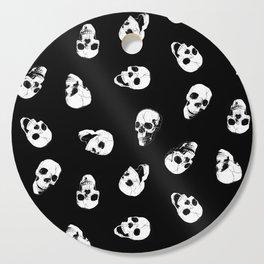 Gossiping Skulls Cutting Board