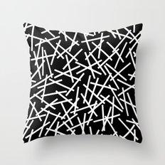 Kerplunk Black and White Throw Pillow