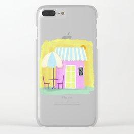 Ice Cream Shop Clear iPhone Case
