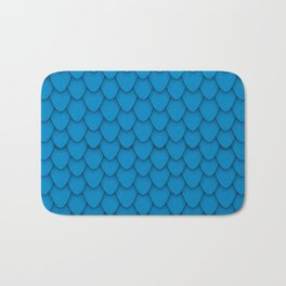 Dragon Scales in Blue Bath Mat