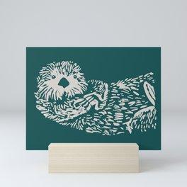 The handsome sea otter Mini Art Print