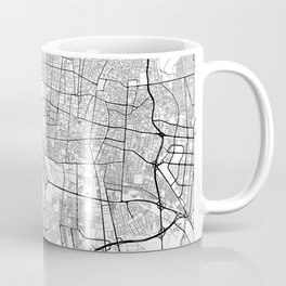 Teheran Map White Coffee Mug