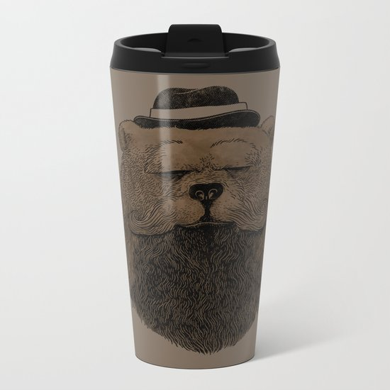 Grizzly Beard Metal Travel Mug