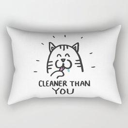 Cleaner than you Rectangular Pillow