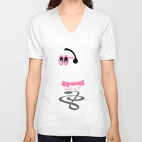 ghost V-neck T-shirts featuring Ghost by mailboxdisco