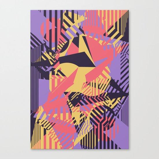 Dazzle Camo #03 - Purple & Yellow Canvas Print