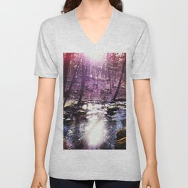 twilight woods Unisex V-Neck