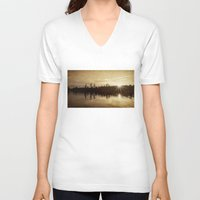 golden V-neck T-shirts featuring golden by Bonnie Jakobsen-Martin
