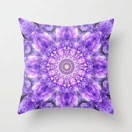Light of Hope Mandala Throw Pillow