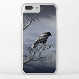 Observing the City Below Clear iPhone Case
