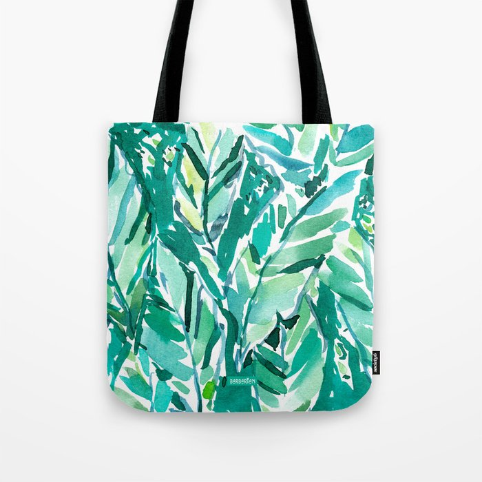 BANANA LEAF JUNGLE Green Tropical Tote Bag